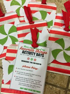 A Bushel and a Peck of FUN: Favorite Things - December Activity Days