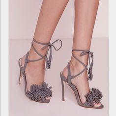 e7571b319be Missguided Tassel Heel Ankle Heels