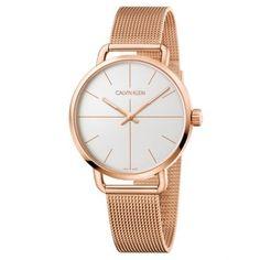 Women's Calvin Klein Even Mesh Strap Watch, Calvin Klein Watch, Ck Calvin Klein, Swiss Made Watches, Mesh Band, Rose Gold Watches, Mesh Bracelet, Display, Model, Accessories