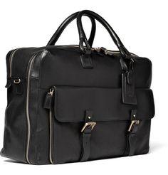 Dunhill Bladon Leather Holdall Travel Bag @ mrporter.com
