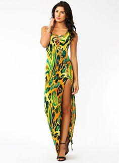 Amazonian Laced Maxi Dress