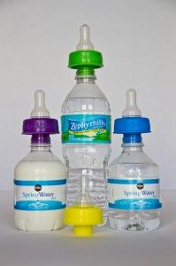 Refresh-a-Baby is a patented baby bottle nipple that adapts onto water bottles, instantly converting the water bottle into a baby bottle without the hassle of clean up time saving parents time and energy on-the-go!