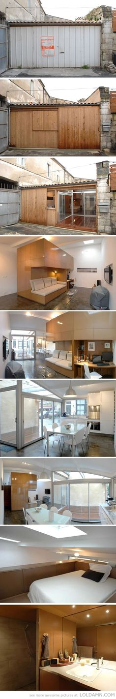 Awesome apartment ideas: garage converted into apartment