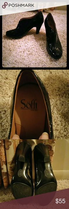 Sofft Leather Black Heels Brand NEW Sofft leather black heels, never been used! Super comfortable ans very stylish and can be used for both casual or formal settings. No wear, tear, or marks on the shoes. More pictures can be provided. $65 OBO Sofft Shoes Heels