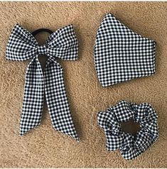 Diy Hair Scrunchies, Diy Hair Bows, Diy Bow, Diy Ribbon, Ribbon Hair, Diy Mask, Diy Face Mask, Sewing Crafts, Sewing Projects