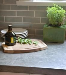 French Blue Limestone Countertop #cultivateit