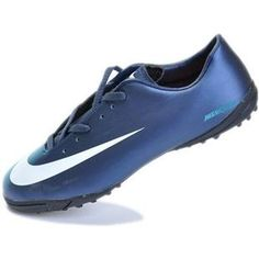 http://www.asneakers4u.com Buy Cheap Nike Mercurial Vapor Superfly II Victory TF Soccer Shoes Football Boots In Blue Whiteout of stock