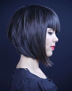 Perfect For Autumn 7 Layered Bob Haircuts With Bangs Layered Bob Hairstyles, Long Bob Haircuts, Haircuts With Bangs, Medium Hair Styles, Short Hair Styles, A Line Bobs, Great Hair, Hair Today, Hair Dos