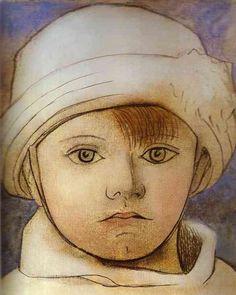 Pablo-Picasso-Portrait-of-Paul-Picasso-as-a-Child