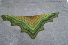 Ravelry: Project Gallery for Handspun Delight Shawlette pattern by Susanne Visch.  Knit by Insubordknit