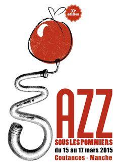 Affiche Jazz sous les pommiers www.noé-design.com
