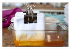 DIY hand-dyed napkins from Rachel, the epic crafter