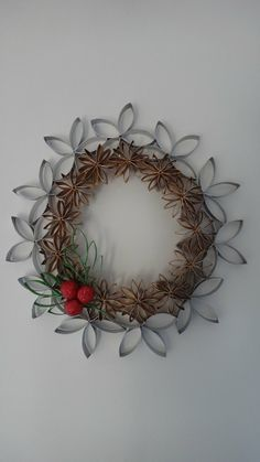 Christmas wreath (toilet paper roll)
