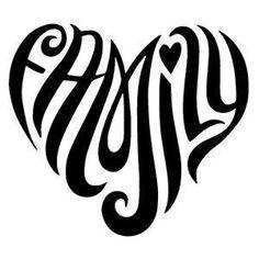 family nice for a tatoo Bild Tattoos, Love Tattoos, Picture Tattoos, Tribal Tattoos, Tatoos, Family Heart Tattoos, Neck Tattoos, Silhouette Cameo, Karten Tattoos
