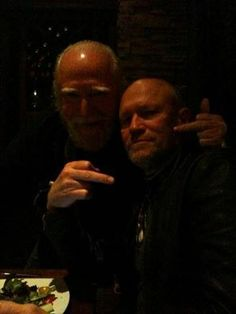 From Michael Rooker's Facebook...Had a great dinner with this rascal last night...ShitYes!