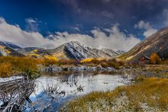 Fall Reflection Pond by Steven Reed