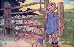 """Little Bo-Peep"" - Jessie Willcox Smith by docarelle, via Flickr American Illustration, Children's Book Illustration, Book Illustrations, Procter And Gamble, Sheep Art, Beauty In Art, Little Bo Peep, Vintage Fairies, Clip Art"