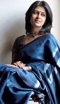 Nandita Das in Blue Handloom Saree Indian Look, Indian Ethnic Wear, Ethnic Sarees, Indian Sarees, Indian Dresses, Indian Outfits, Trendy Sarees, Elegant Saree, Most Beautiful Indian Actress