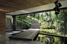 Dream Home Design, Modern House Design, Exterior Design, Interior And Exterior, Interior Garden, House Goals, Future House, Interior Architecture, Landscape Design