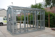 low cost steel frame pod