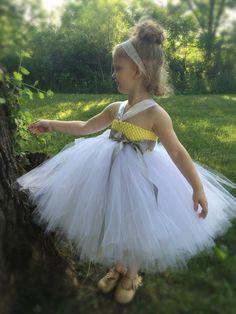 Flower Girl Tutu Dress, Pixie Tutu Dress, Flower Girl Dress, Summer Tutu dress, Girls Tutu Dress, Yellow Tutu Dress, Summer Wedding Dress - pinned by pin4etsy.com