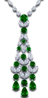 GABRIELLE'S AMAZING FANTASY CLOSET | Emerald & Diamond Chandelier Necklace - Beautiful