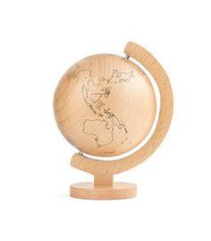 Kikkerland Wood Globe