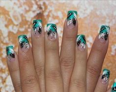 Green and brownnail designs | Found on nailart.vn