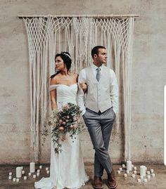 Lovey McLoveface Large Handmade Yarn Macrame Wedding Backdrop