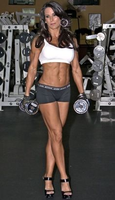Laura London, She's 44 and didn't start training until 40. Mother of 3!...