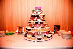 Sprinkles Cupcake Tower ~ Coordination by Mint Julep Social Events.