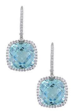 "20 alternatives to the traditional ""something blue"" - Topaz earrings | CHWV"
