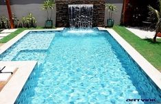Small Backyard Pools, Backyard Pool Landscaping, Backyard Pool Designs, Swimming Pools Backyard, Swimming Pool Designs, Garden Pool, Pool Shade, Small Pool Design, Pool Colors