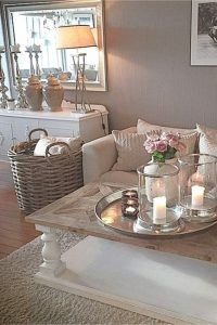 Cozy Grey Living Room Inspiration – LOVE all these gray and white living rooms and dark gray living room ideas! I really like a neutral living room with pops of … Coastal Living Rooms, Home Living Room, Apartment Living, Living Room Designs, Romantic Living Room, Cozy Apartment, Shabby Chic Living Room Decor, Cream Living Room Decor, Living Room Ideas