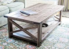 13 Free Plans to Help You Build a Coffee Table: Rustic X Coffee Table from Ana White