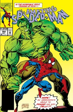 The Amazing Spider-Man Marvel Comic books cover Peter Parker web Incredible Hulk All Spiderman, Comics Spiderman, Amazing Spiderman, Incredible Hulk, Marvel Dc Comics, Marvel Heroes, Batman, Rage Comics, Superman
