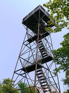 Mt. Davis lookout tower, Pennsylvania State Highpoint, Somerset, PA.  Visited and climbed on 8/4/2007.