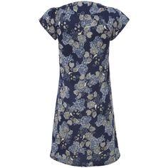 Lace Leaf Print Tunic Dress