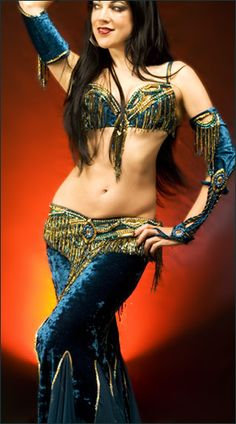 e4856ebd6 blue and gold Bella - Sandra Teal And Gold, Belly Dancers, Belly Dance  Costumes