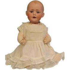 """Antique 17"""" JDK Kestner Solid Dome Baby Jean Character Doll German from turnofthecenturyantiques on Ruby Lane"""