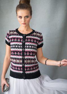 Short sleeve fair isle, Vogue Knitting 2016
