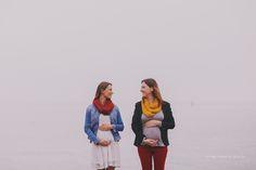 Acompanhamento mensal - crescimento da barriga - amigas grávidas - 20 e 19 semanas