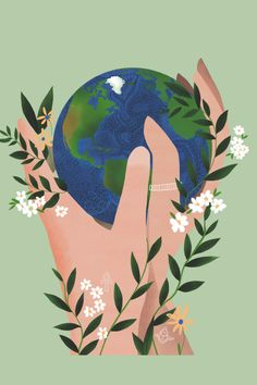 Earth Day Drawing, Earth Drawings, Desenhos Love, Save Our Earth, Illustration Art, Illustrations, Environmental Art, Wallpaper S, Wall Collage