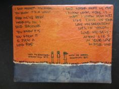 - one of a kind - orange sky song lyrics mixed media collage and illustration handmade | alexi murdoch - orange sky