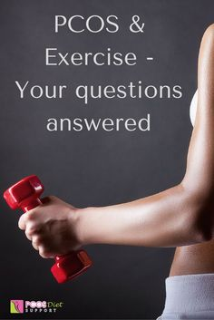 PCOS and exercise can be confusing and raise a lot of questions. Erika Volk, The PCOS Trainer, answers common questions here. Polycystic Ovarian Syndrome, Ovarian Cyst, Pcos Exercise, Pcos Infertility, Endometriosis, Pcos Symptoms, Pcos Diet, Thyroid Problems, Weight Loss Snacks