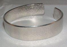 Handmade Textured Hand Formed Cuff Bracelet