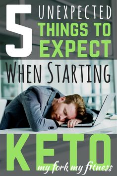Learn what unexpected things you should expect when starting a keto diet. #keto #myforkmyfitness