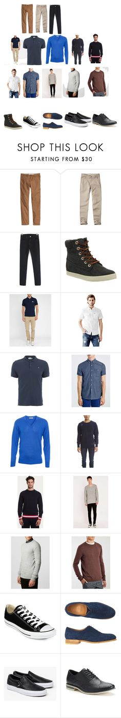"""Q Econ Male"" by kellydbailey on Polyvore featuring Abercrombie & Fitch, Timberland, GUESS, J.Lindeberg, Topman, Monsieur Lacenaire, Bally, Cheap Monday, SELECTED and Converse"