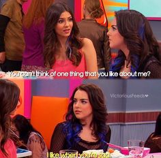 Jori is real rn Funny Disney Memes, Stupid Funny Memes, Funny Relatable Memes, Funny Cartoons, Funny Gifs, Victorious Nickelodeon, Icarly And Victorious, Super Funny, Really Funny