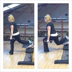 Split Squat.. Great for the Quads!     Stacey Cooper Fitness